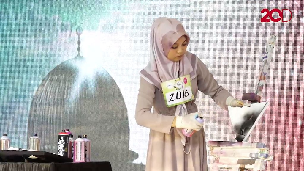 20 Besar Yogyakarta - Anisa Dinda Rachmawati Eksplore Seni Melukis