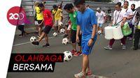 Keseruan Giring Bola Bareng Transmedia di Car Free Day