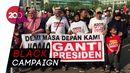 #2019GantiPresiden Bertebaran di CFD Bundaran HI