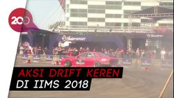 Aksi Drift Keren di IIMS 2018