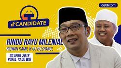 Nantikan Live Streaming dCandidate: Ridwan Kamil & UU Ruzhanul Pukul 13.00 WIB