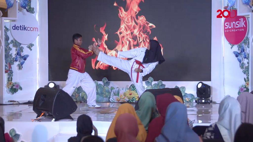 20 Besar Makassar - Jurus Taekwondo Nur Aliyah