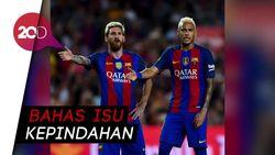 Messi: Tak Enak Jika Melihat Neymar di Real Madrid