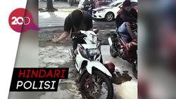 Video Pemotor Kesurupan ketika Ditilang di Bengkulu