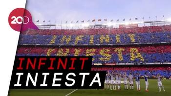 Detik-detik Terakhir Iniesta Merumput di Camp Nou