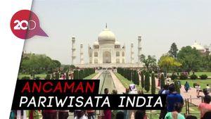 Waduh! Taj Mahal Dikepung Polusi dan Sampah