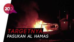 Serangan Udara Israel Hanguskan Kapal Bersandar di Gaza
