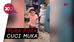 Viral! Video Kocak Anak Ketangkap Basah Batalin Puasa