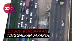 Gerbang Tol Cikarang Ramai Lancar, Bus Mulai Mendominasi