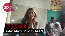 Jessica Iskandar Berbagi Kebahagiaan di Rumah Singgah