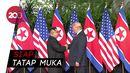 Pertemuan Bersejarah Trump dan Kim Jong-Un Dimulai
