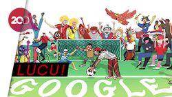 Google Doodle Rayakan Pesta Sepak Bola Hari Ini