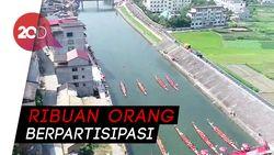 Beginilah Keseruan Lomba Perahu Naga Festival Duanwu di China