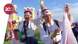 Sukacita Pendukung Jepang di Atas Duka Pendukung Kolombia