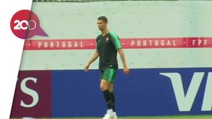 Ronaldo Cs Berlatih Ringan Jelang Laga Melawan Maroko