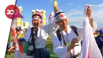 Tawa Fans Jepang di Atas Duka Fans Kolombia