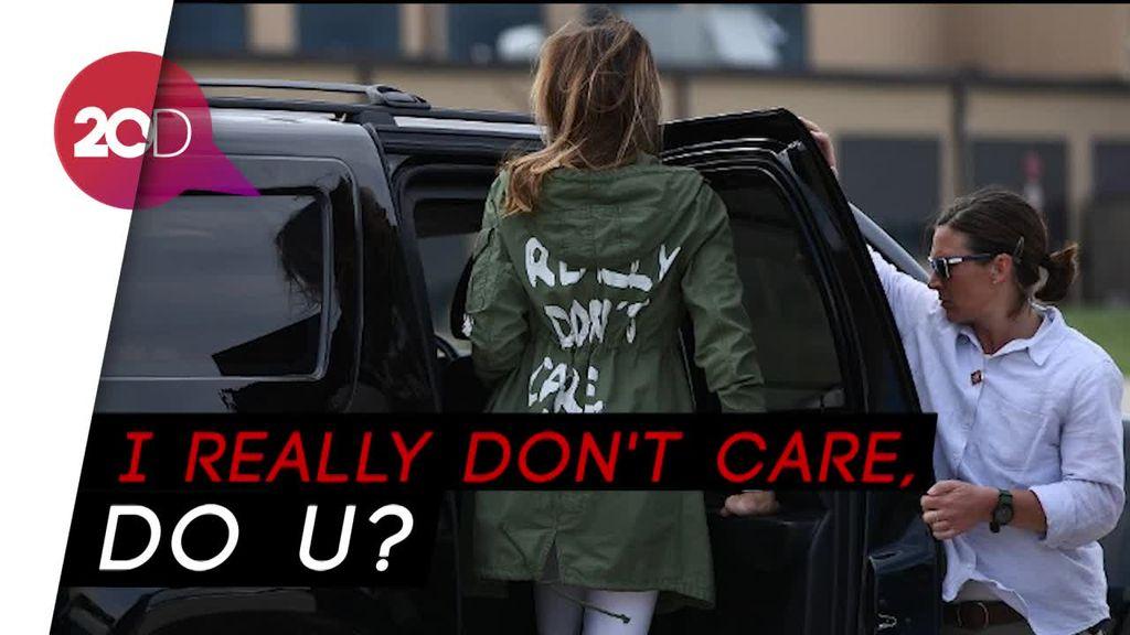 Jaket Melania Trump Tuai Kontroversi Netizen