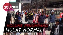 H+8 Lebaran, Stasiun Pasar Senen Kedatangan 23.137 Penumpang