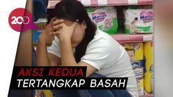 Terciduk! Ini Wanita yang Kerap Ngutil di Minimarket