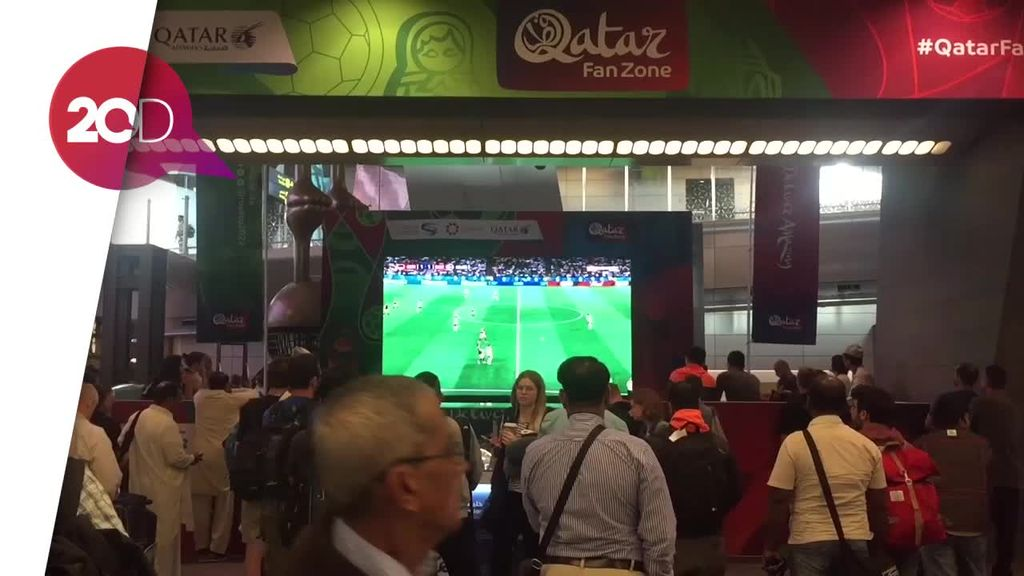 Demam Piala Dunia di Bandara International Doha