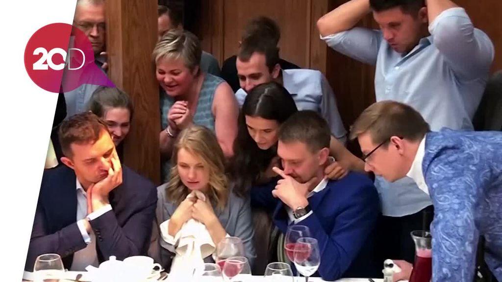 Kemenangan Rusia Jadi Kado Terindah Pengantin Ini