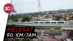 Perdana! LRT Seberangi Sungai Musi
