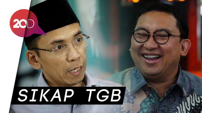 TGB Dukung Jokowi, Fadli Zon: Terserah