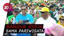 Sandi dan Gubernur Gorontalo Jalan Sehat di Festival Gorontalo