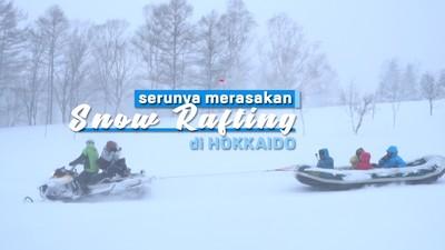 Serunya Merasakan Snow Rafting Di Hokkaido