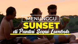 Keindahan Matahari Terbenam di Pantai Segui Lombok