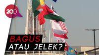 Pujian dan Ejekan untuk Bendera Negara Pakai Bambu di Kota Tua