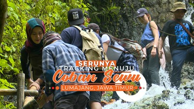 Tracking Menuju Air Terjun Unik di Lumajang