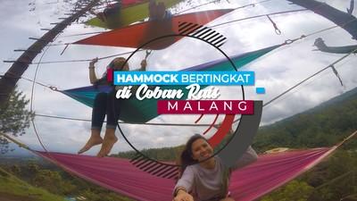 Hammock Bertingkat di Coban Rais Malang