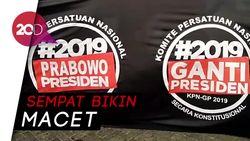 Spanduk Raksasa di Tugu Proklamasi Dukung Prabowo Presiden 2019