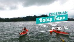 Keseruan Bermain Kano di Sulawesi Utara