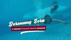Berenang di Pantai Manado