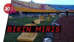 Kelakuan Minim Suporter, Stadion Baru Malah Dirusak