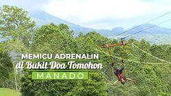 Memicu Adrenalin di Bukit Doa Tomohon, Manado