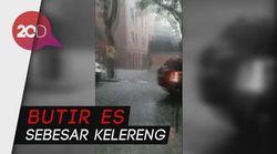 Barcelona Diguyur Hujan Es Sepanjang Hari