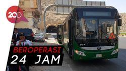 Ini Nih Bus Shalawat Andalan Jemaah Haji Indonesia di Mekah