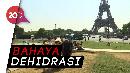 Warga Paris Bertahan di Cuaca Panas