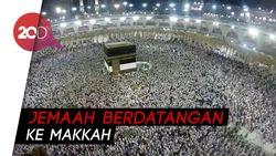 Membeludak! Jemaah Haji Padati Masjidil Haram
