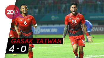 Indonesia Pecundangi Taiwan di Laga Perdana Asian Games