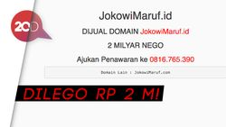Nggak Cuma Prabowo-Sandi, Situs Jokowi-Maruf Dijual Rp 2 M