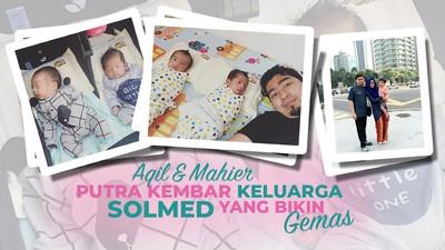 Aqil & Mahier,  Putra Kembar Solmed yang Bikin Gemas