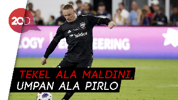 Aksi Epic Rooney di Injury Time