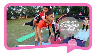 Yoga Akrobat Sama Anak, Lihat Tipsnya ya Bun