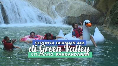Segernya Bermain air di Sungai Citumang Pangandaran