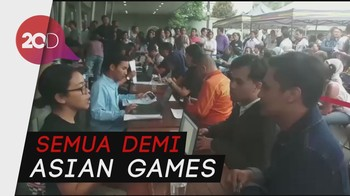 Antrean Mengular Demi Tiket Opening Asian Games 2018