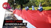 Bendera Merah Putih Sepanjang 3,3 KM Terbentang di Banjar